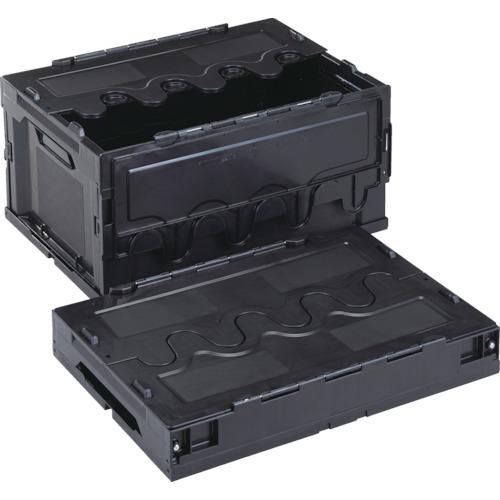 ■リス 導電性折りたたみコンテナーCF-S41A 黒  〔品番:CFE-S41A-BK〕[TR-8219154]