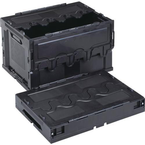 ■リス 導電性折りたたみコンテナーCF-S51A 黒  〔品番:CFE-S51A-BK〕[TR-8219155]