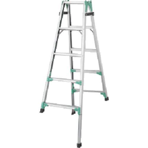 ■ハセガワ 脚部伸縮式アルミはしご兼用脚立 RYZ型 5段〔品番:RYZ1.0-15〕[TR-8246638]【送料別途お見積り】