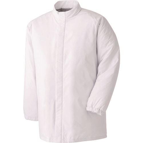 ■ミドリ安全 食品工場用防寒コート ホワイト 5L  〔品番:MH1000W-UE-5L〕[TR-8258676]