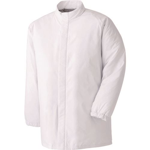■ミドリ安全 食品工場用防寒コート ホワイト L  〔品番:MH1000W-UE-L〕[TR-8258677]