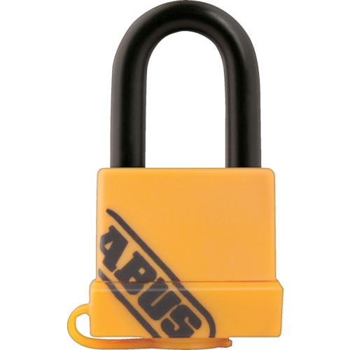 ■ABUS 真鍮南京錠 70-35 イエロー《12個入》〔品番:70-35-YELLOW〕[TR-8265400]