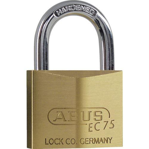 ■ABUS 真鍮南京錠 EC75-40 ディンプルシリンダー (ブリスターパック)《5個入》〔品番:BPEC75-40〕[TR-8265407]