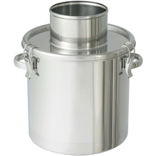 ■日東 ステンレスタンク 粉体回収容器150Aリブ付パイプ 10L〔品番:FK-CTH-24-RP-150A〕[TR-8265786]【個人宅配送不可】
