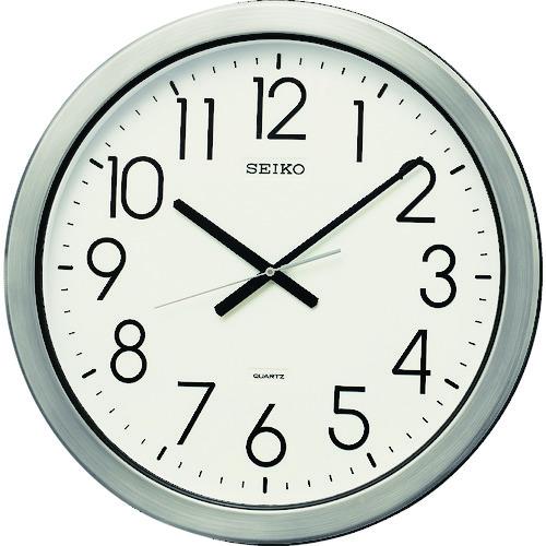 ■SEIKO 防湿・防塵型オフィスクロック 直径444×44 金属枠〔品番:KH407S〕[TR-8275567]