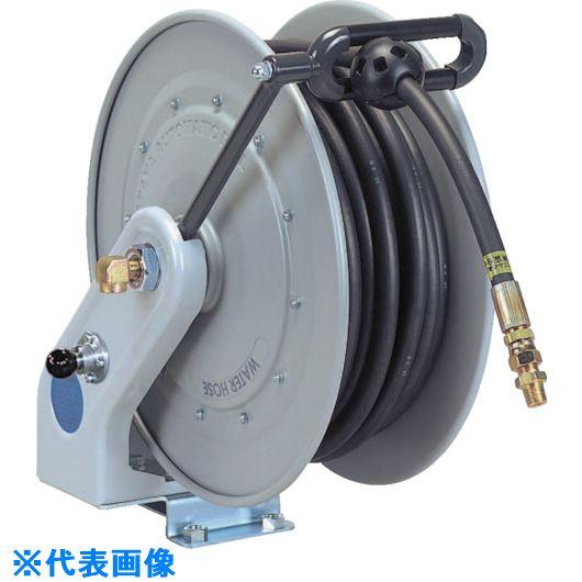 ■ハタヤ 自動巻高圧水用ホースリール10M 内径Φ6.4 ラバーホース  〔品番:NWSC-HP102〕[TR-8279252]【個人宅配送不可】