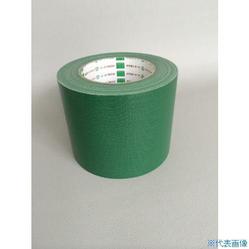 ■オカモト 布テープ NO111カラー 緑 75ミリ《24巻入》〔品番:111G75〕[TR-8283013×24]