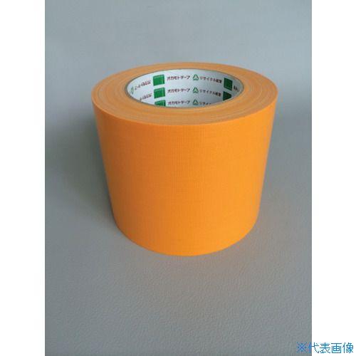 ■オカモト 布テープ NO111カラー オレンジ 75ミリ 24巻入 〔品番:111M75〕[TR-8283017×24]