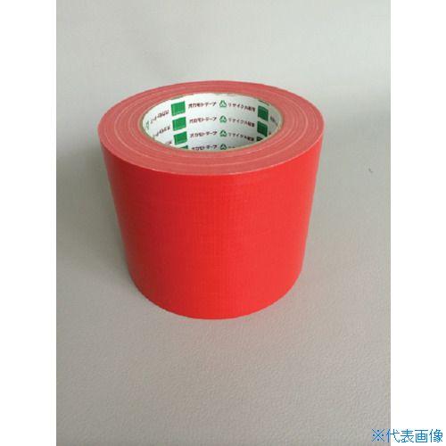 ■オカモト 布テープ NO111カラー 赤 100ミリ 18巻入 〔品番:111R100〕[TR-8283022×18]