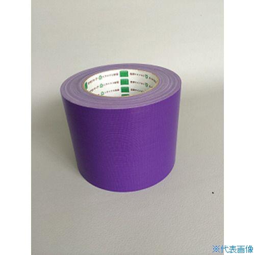 ■オカモト 布テープ NO111カラー 紫 100ミリ《18巻入》〔品番:111V100〕[TR-8283029×18]