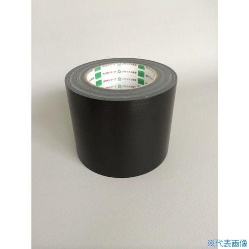 ■オカモト 布テープ NO111カラー 黒 75ミリ 24巻入 〔品番:111X75〕[TR-8283036×24]