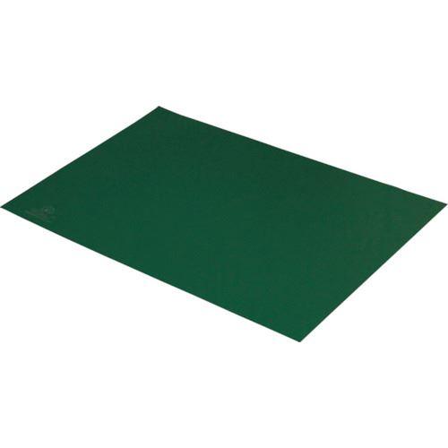 ■DESCO 静電気拡散性2層ラバーシート 緑 750X1500mm〔品番:880007〕[TR-8287377]【送料別途お見積り】
