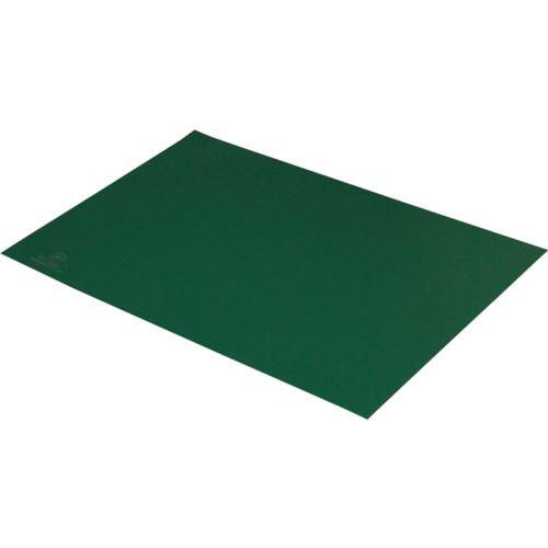 ■DESCO 静電気拡散性2層ラバーシート 緑 900X1800mm〔品番:880011〕[TR-8287379]【送料別途お見積り】