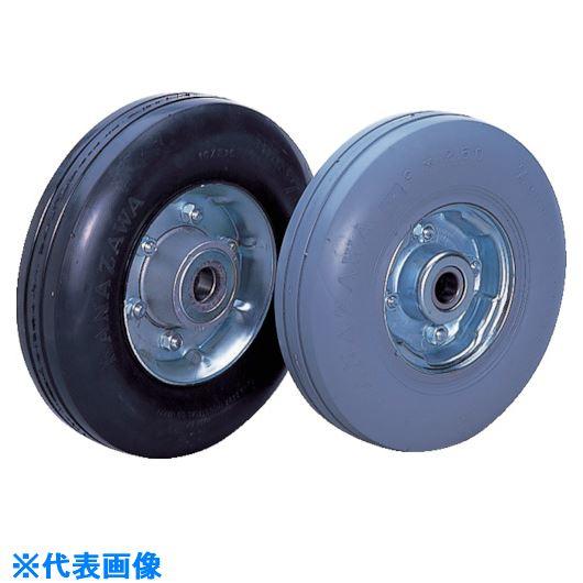 ■カナツー ゼロプレッシャータイヤ 車輪 許容荷重170KGF 車輪径D230MM〔品番:ZP9X2.50HS-BK〕[TR-8287522]