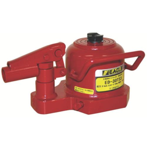■イーグル 3段伸び・レバー回転油圧ジャッキ能力3T  〔品番:ED-30TS-3〕[TR-8289253]