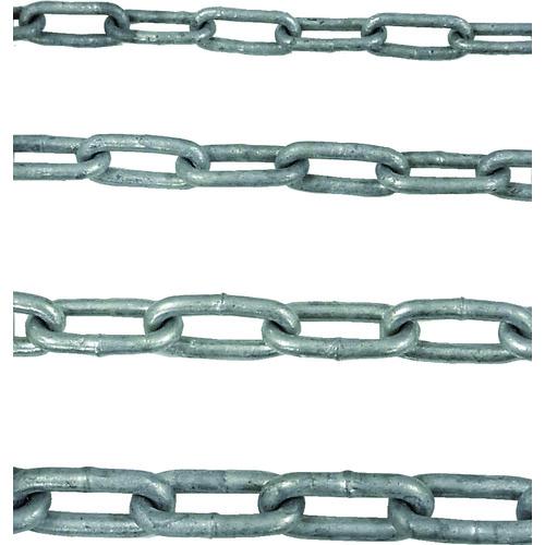 ■ニッサチェイン 鉄ドブメッキ溶接リンクチェイン 4.8MM×30M〔品番:IW48-DOBU〕[TR-8290599]