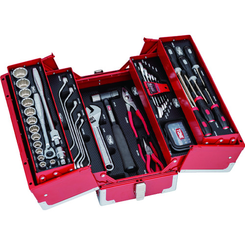 【新品】   〔品番:TSST430〕[TR-8292436]:ファーストFACTORY ?TONE ツールセット(レッド仕様)-DIY・工具