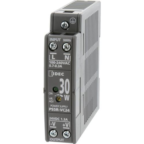■IDEC PS5R-V形スイッチングパワーサプライ(薄形DINレール取付電源)〔品番:PS5R-VE24〕[TR-8338781]