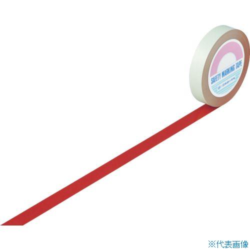 ■緑十字 ガードテープ(ラインテープ) 赤 25MM幅×100M 屋内用〔品番:148014〕[TR-8353721]