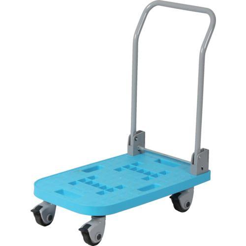 ■HAMACO 樹脂製静音台車(耐荷重100kg)青〔品番:KPP-100BL〕[TR-8356779]【個人宅配送不可】