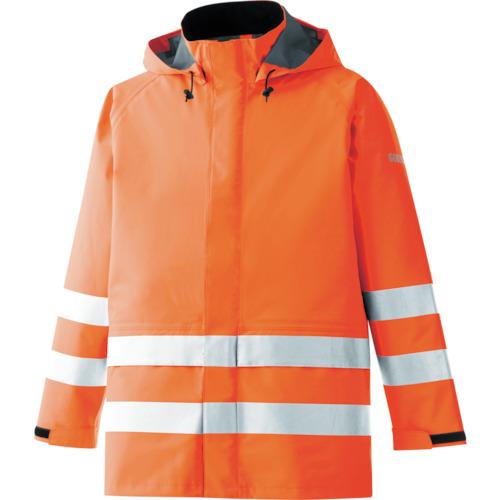 ■ミドリ安全 雨衣 レインベルデN 高視認仕様 上衣 蛍光オレンジ 3L〔品番:RAINVERDE-N-UE-OR-3L〕[TR-8357357]