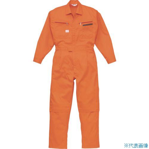 ■AUTO-BI ツナギ服 Lサイズ オレンジ  〔品番:1280-OR-L〕[TR-8363749]