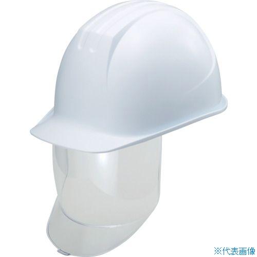■タニザワ 大型シールド面付ヘルメット 溝付 ホワイト〔品番:0162-SD-W8-J〕[TR-8363961]