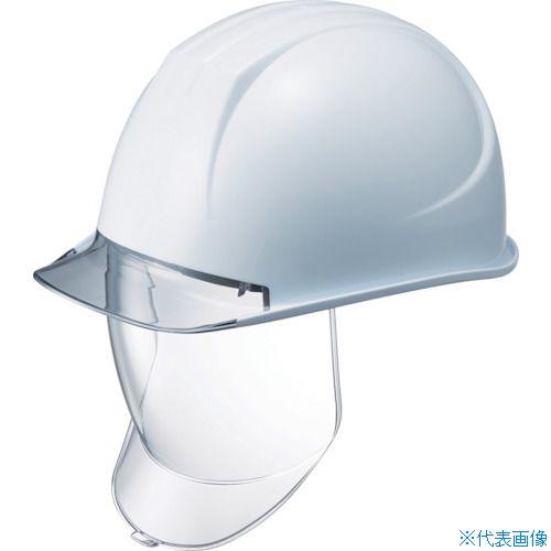 ■タニザワ 特大型ヘルメット 大型シールド面付 溝付 透明ひさし付〔品番:162VL-SD-V2-W3-J〕[TR-8363965]