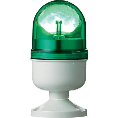 ■シュナイダー アローシリーズ 緑 Φ84 LED回転灯 100V  〔品番:LRP-100G-A〕[TR-8370187]