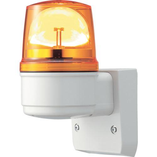■シュナイダー アローシリーズ 黄 Φ110 LED回転灯(壁付) 100V  〔品番:LRSL-100Y-A〕取寄[TR-8370207]