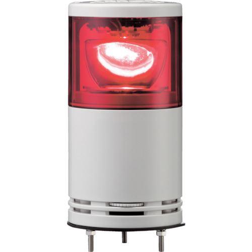 ■シュナイダー アローシリーズ 赤 Φ100 積層式LED回転灯 100V 1段  〔品番:UTLR-100-1R〕掲外取寄[TR-8370371]