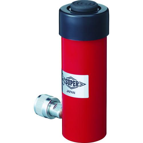 ■スーパー 油圧シリンダ(単動式) ストローク100MM 揚力100KN  〔品番:HC10S100N〕[TR-8370731]