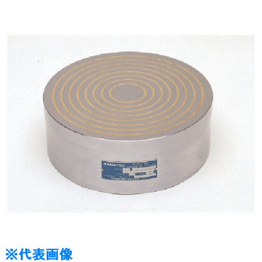 ■カネテック 水冷式丸形電磁チャック  〔品番:KCC-40AR〕[TR-8379657]【大型・重量物・個人宅配送不可】