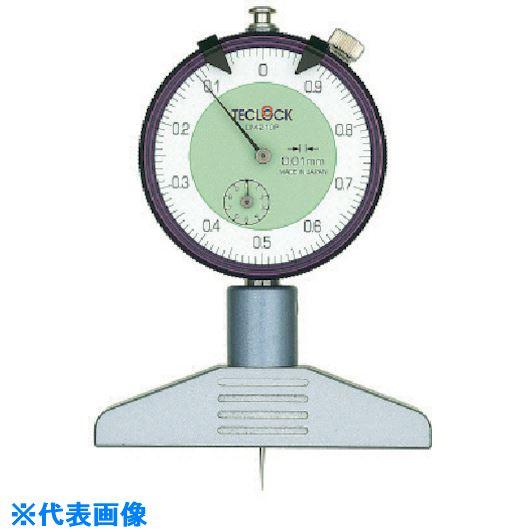 ■テクロック ダイヤルデプスゲージ 測定範囲10MM〔品番:DM-210P〕[TR-8380226]