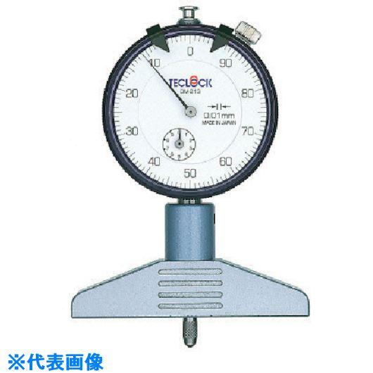 ■テクロック ダイヤルデプスゲージ 測定範囲10MM〔品番:DM-213〕[TR-8380228]