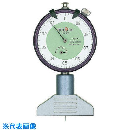 ■テクロック ダイヤルデプスゲージ 測定範囲5MM〔品番:DM-250P〕[TR-8380239]