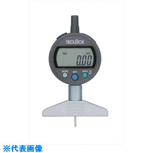 ■テクロック デジタルデプスゲージ 測定範囲12MM〔品番:DMD-211J〕[TR-8380246]