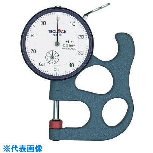 ■テクロック ダイヤルシックネスゲージ 測定範囲10MM  〔品番:SM-112-80G〕取寄[TR-8380325]