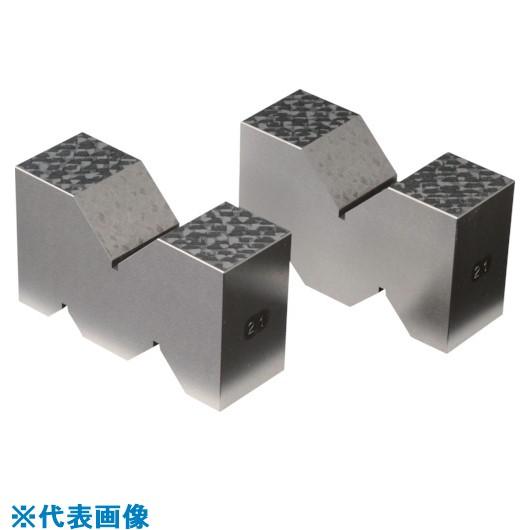 ■RKN 鋳鉄製VブロックA形 全長100MM×V幅40MM 2個1セット  〔品番:RCV-A100〕取寄[TR-8381665]