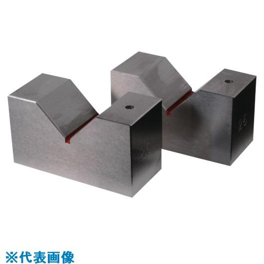■RKN 鋼硬製Vブロック 全長100MM×V幅50MM 2個1セット  〔品番:RSV-100〕[TR-8381694]【個人宅配送不可】