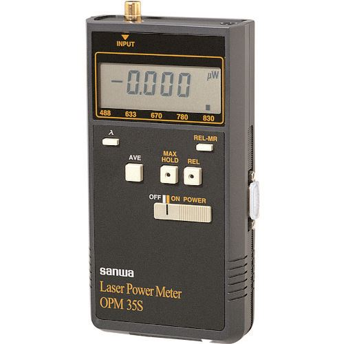 ■SANWA レーザーパワーメータ  〔品番:OPM35S〕[TR-8382633]【個人宅配送不可】