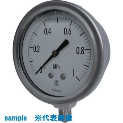 ■長野 グリセリン入圧力計 圧力レンジ(MPA):0.0~0.30〔品番:GV42-133-0.3MP〕取寄[TR-8383547]