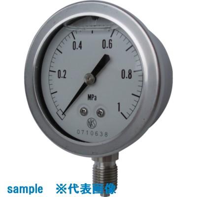 ■長野 グリセリン入圧力計 圧力レンジ(MPA):0.0~0.10〔品番:GV50-123-0.1MP〕取寄[TR-8383563]