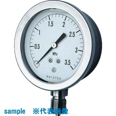 ■長野 グリセリン入圧力計 圧力レンジ(MPA):0.0~35.00〔品番:GV51-133-35.0MP〕取寄[TR-8383574]