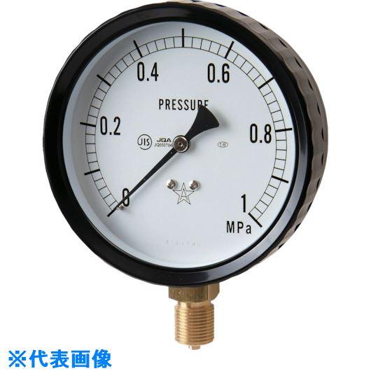 ■右下 密閉形圧力計  〔品番:W311-241-0.4MPA〕外直送[TR-8383618]【送料別途お見積り】