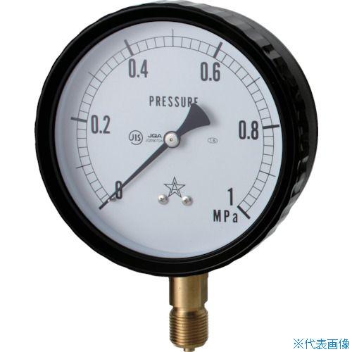■右下 密閉形圧力計〔品番:W411-241-25MPA〕[TR-8383644][送料別途見積り][法人・事業所限定][外直送]