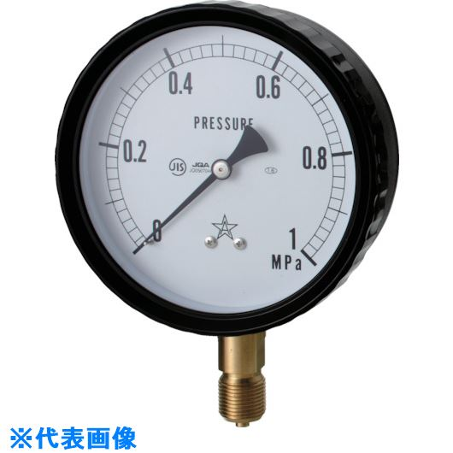 ■右下 密閉形圧力計  〔品番:W411-241-40MPA〕外直送[TR-8383646]【送料別途お見積り】