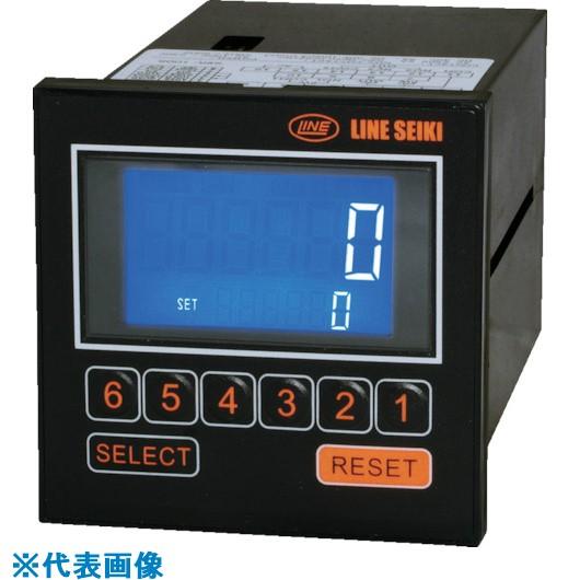■ライン精機 電子プリセットカウンター 6桁 電源AC85~264V  〔品番:E60-201〕取寄[TR-8383699]
