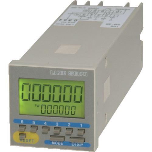 ■ライン精機 電子プリセットカウンター 6桁 電源AC100~240V  〔品番:G48-315〕[TR-8383715]
