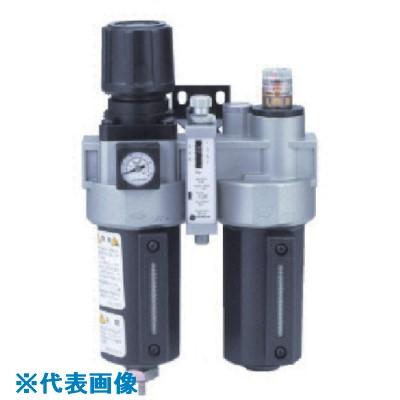 ■日本精器 FRLユニット 8A モジュラ接続タイプ圧力スイッチ付  〔品番:BN-25T5DP-8〕取寄[TR-8387314]